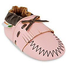 image of MomoBaby Leather Soft Sole Shoe in Pink