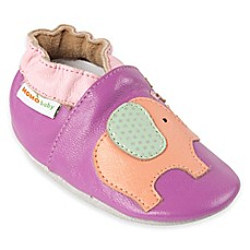 image of MomoBaby Elephant Leather Soft Sole Shoe in Purple