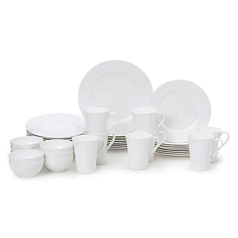 Mikasa 174 Lucerne White 40 Piece Dinnerware Set Bed Bath