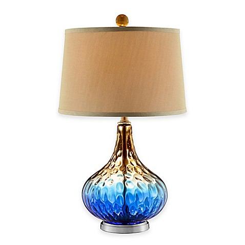 stein world shelley art glass table lamp in cobalt blue. Black Bedroom Furniture Sets. Home Design Ideas