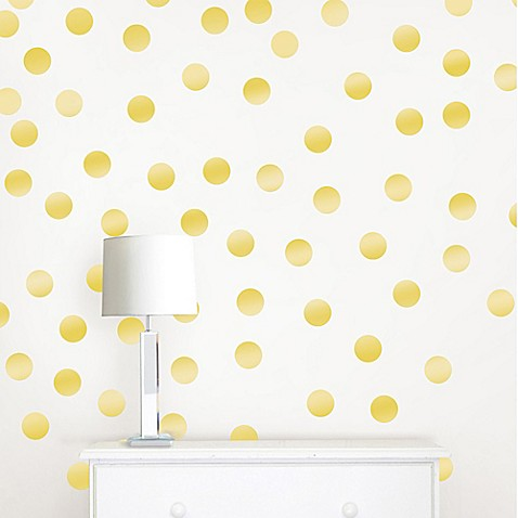 Perfect WallPops!® Metallic Gold Confetti Dots Wall Decals - Bed Bath & Beyond HM46