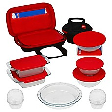 image of Pyrex® 21-Piece Bake, Prep, Store, and Transport Bakeware Set