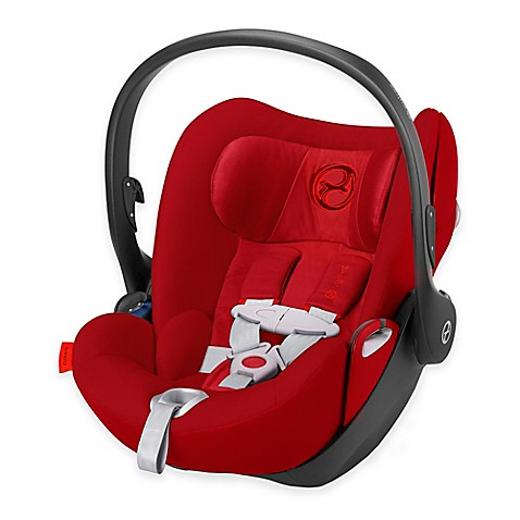 Cybex Cloud Q Infant Car Seat with Load Leg Base in Hot & Spicy
