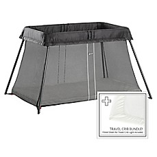 image of BABYBJORN® Travel Crib Light Bundle in Black