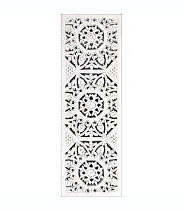 Espejo decorativo de pared con panel de medallones en blanco