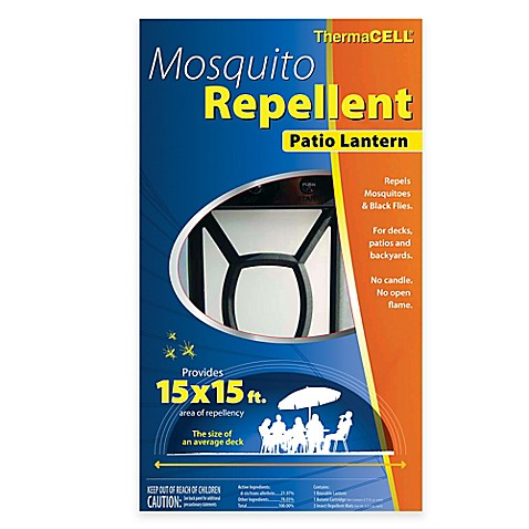 Theramcell Mosquito Repellent Patio Lantern In Black