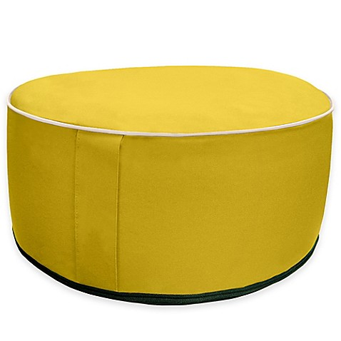 Splash 'n Dash Inflatable Pouf Ottoman in Yellow