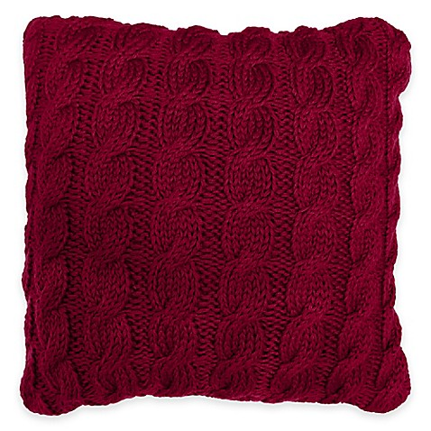 buy park b smith classic cable square throw pillow in cinnabar from bed bath beyond. Black Bedroom Furniture Sets. Home Design Ideas