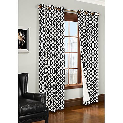 Trellis Room Darkening Grommet Top Window Curtain Panels