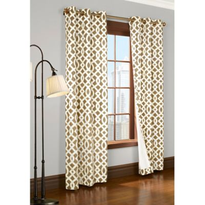 Commonwealth Home Fashions Trellis Room Darkening Grommet Top Window Curtain Panels Bed Bath