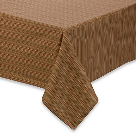 Tuscan Stripe Laminated Fabric Tablecloth