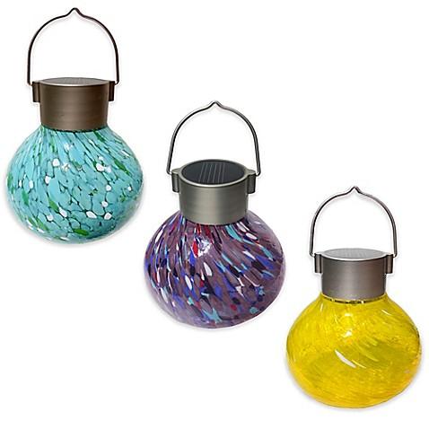 allsop hanging outdoor solar tea lantern bed bath beyond. Black Bedroom Furniture Sets. Home Design Ideas