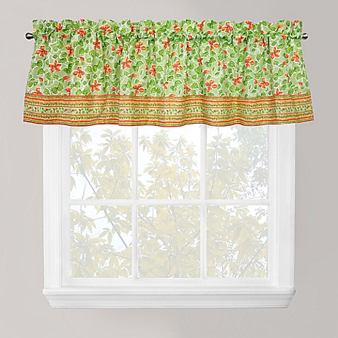 buy park b smith boutique flowers window valance in green. Black Bedroom Furniture Sets. Home Design Ideas