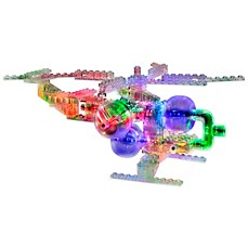 image of Laser Pegs 8-in-1 Helicopter Lighted Construction Toy