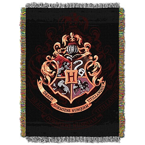 warner brothers harry potter hogwarts tapestry throw. Black Bedroom Furniture Sets. Home Design Ideas