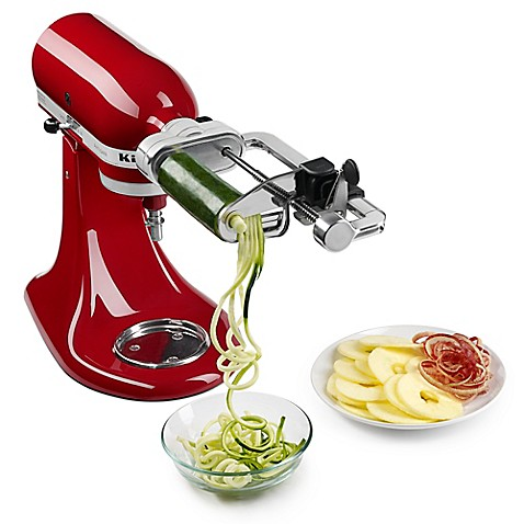 kitchenaid® 5-blade spiralizer with peel, core, and slice stand