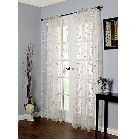 Commonwealth Home Fashions Venice Embroidered Window