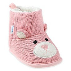 image of Capelli New York Bear Knit Slipper in Pink