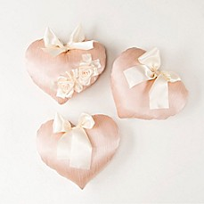 image of Glenna Jean Ribbons & Roses Wall Hanging in Pink (Set of 3)