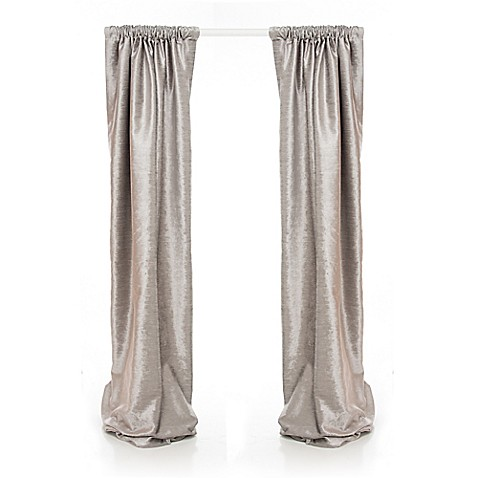 Glenna Jean Fly-By 90-Inch Window Curtain Panels in Grey (Set of 2 ...