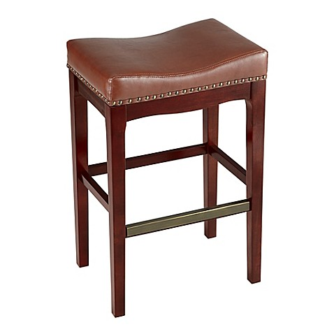 Buy Griffin Bar Stool In Cognac From Bed Bath Amp Beyond
