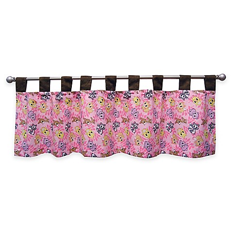 Trend Lab 174 Lola Fox And Friends Tab Top Window Valance