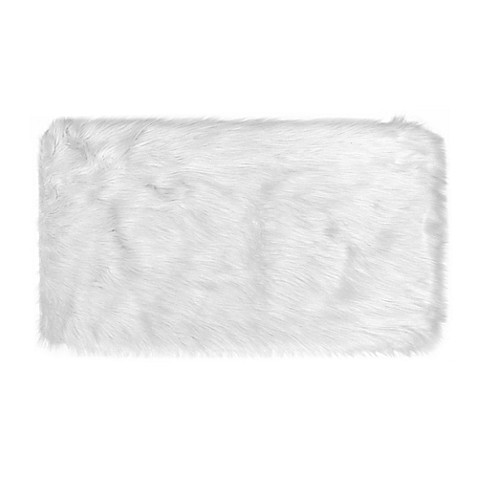 Frost Faux Fur 2-Foot 4-Inch x 3-Foot 11-Inch Area Rug in Ivory