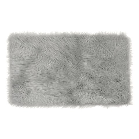 Frost Faux Fur Decorative Rug