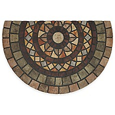 image of Mohawk Mosaic Mythos 23-inch x 35-inch Recycled Rubber Slice Door Mat