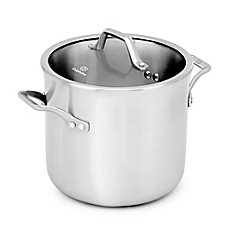 image of Calphalon® Signature™ Stainless Steel 8 qt. Covered Stock Pot