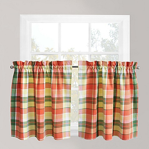 Park B Smith Plaid Delight Window Curtain Tier Pair In