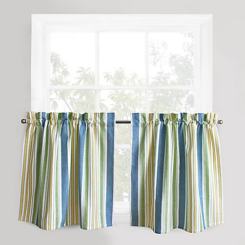 Park B Smith Cape Cod Stripe Window Curtain Tier Pair In