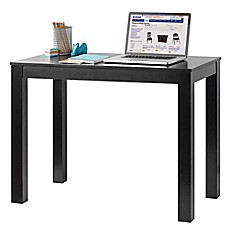 image of Parsons Table in Black Matte Veneer