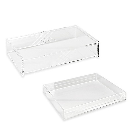 Acrylic Line Etched Desk Organizer Collection In Clear