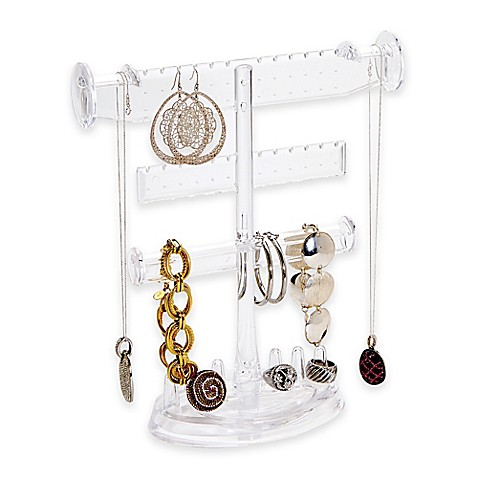 3 tier jewelry holder with ring base bed bath beyond for Bathroom jewelry holder