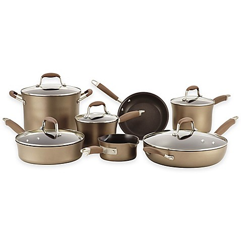Anolon® Advanced Bronze Hard Anodized Nonstick 12-Piece Cookware Set and Open Stock