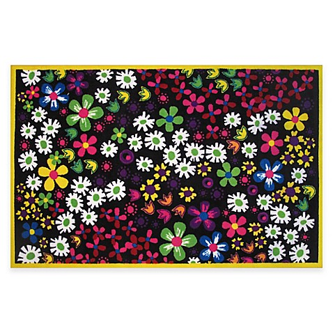 Fun Rugs Floral 4 Foot 10 Inch X 3 Foot 3 Inch Area Rug Buybuy Baby