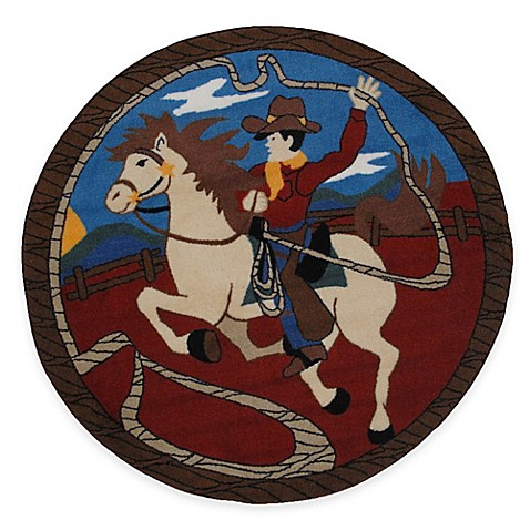 Buy fun rugs fun time lasso 3 foot 3 inch round rug from for Where to buy round rugs