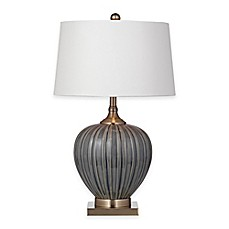 Image Of Bassett Mirror Company Williston Table Lamp In Blue Grey