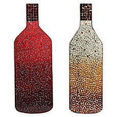 image of mosaic red wine bottle wall art - Wine Decor