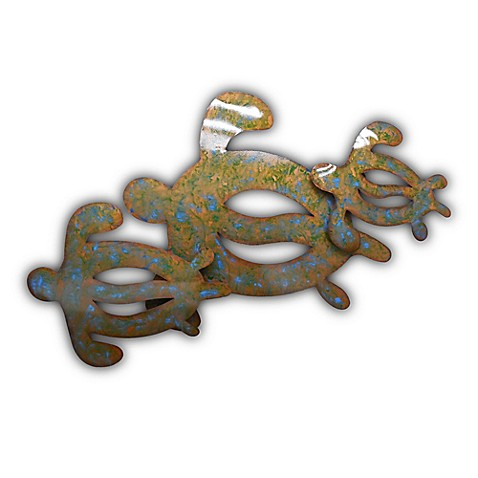 Three Amigos Sea Turtle Metal Wall Art Sculpture - Bed Bath & Beyond