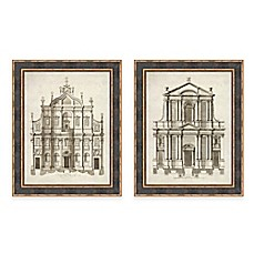 image of Architectural Facade Framed Wall Art