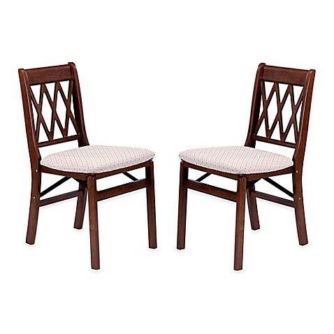 stakmore lattice back wood folding chairs set of 2 bed
