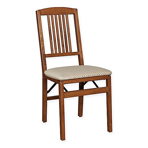buy stakmore simple mission wood folding chairs in cherry