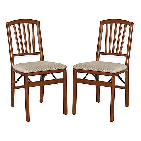 stakmore slat back wood folding chairs set of 2 bed