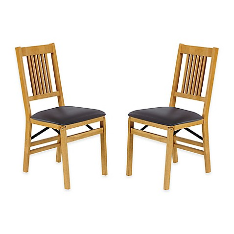stakmore true mission wood folding chairs set of 2 bed bath beyond