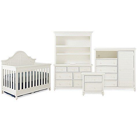 Image Of Bassettbaby® PREMIER Nantucket Nursery Furniture Collection In  Cotton White