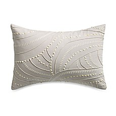 image of Barbara Barry® Sequins Textured Knot Square Throw Pillow in Silver