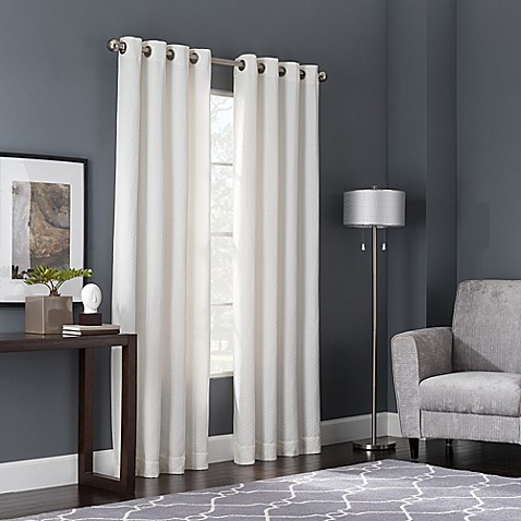 Buy Bianca 108 Inch Window Curtain Panel In White From Bed Bath Beyond