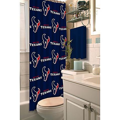 nfl houston texans shower curtain bed bath beyond